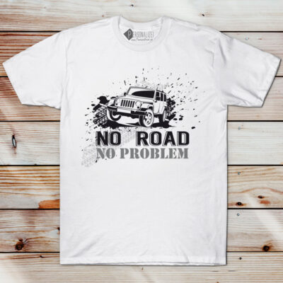 T-shirt No Road No Problem 4x4 camiseta