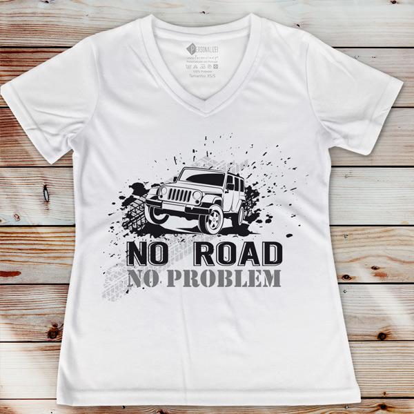 T-shirt No Road No Problem 4x4 para senhora