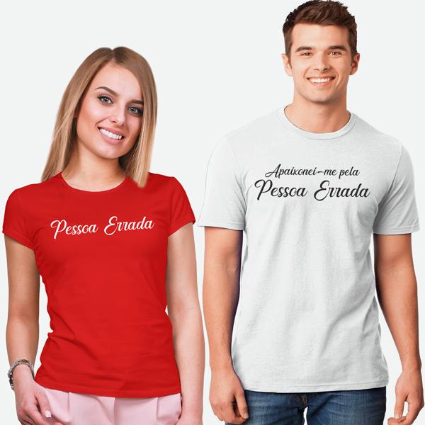 T-shirts Apaixonei-me pela Pessoa Errada conjunto