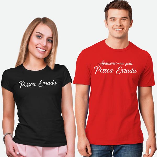 T-shirts Apaixonei-me pela Pessoa Errada