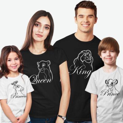 T-shirts Rei Leão Família King Queen Prince Princess comprar