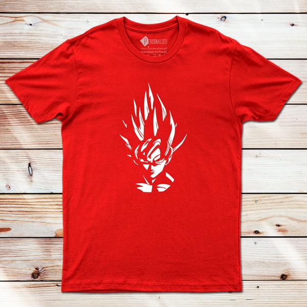 T-shirt Son Goku Dragon Ball Z vermelha