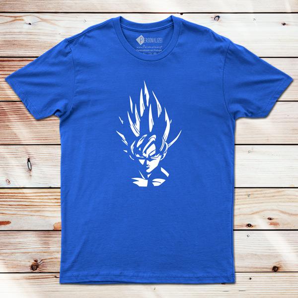 T-shirt Son Goku Dragon Ball Z azul