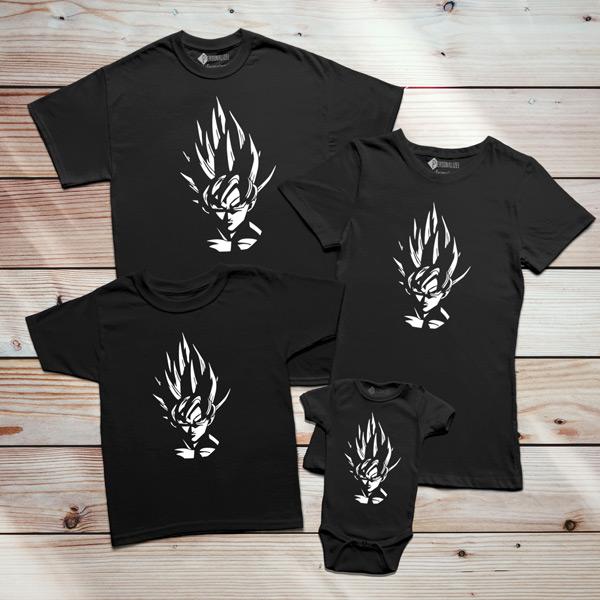T-shirt Son Goku Dragon Ball Z família