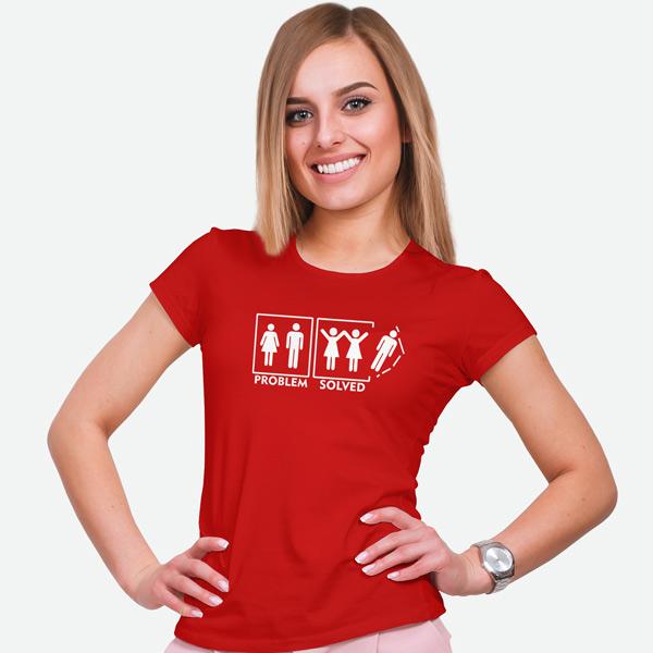 T-shirt Lesbian Problem Solved camiseta