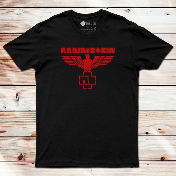 T-shirt Rammstein Eagle preto e vermelho