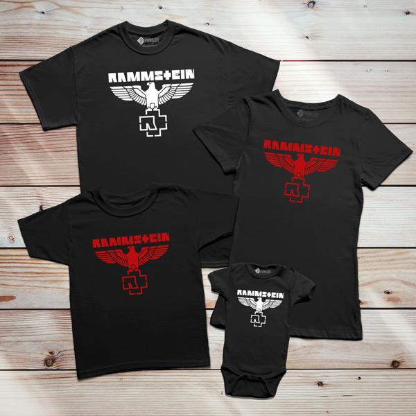 T-shirt Rammstein Eagle família
