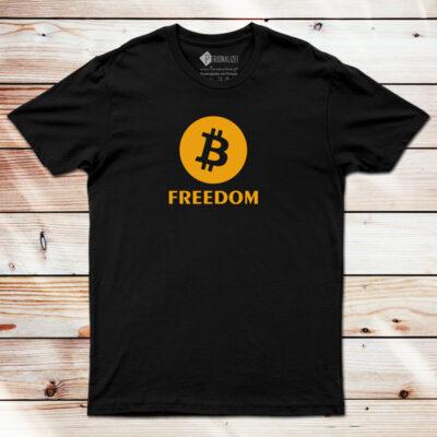 T-shirt Bitcoin Freedom BTC comprar em Portugal