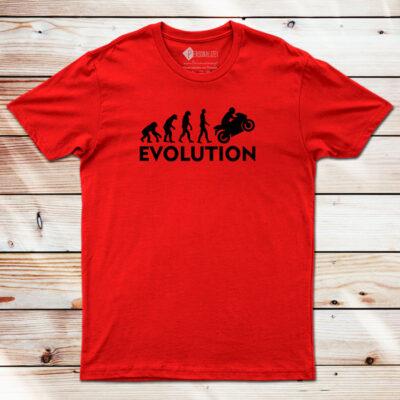 Moto T-shirt Biker Evolution vermelha