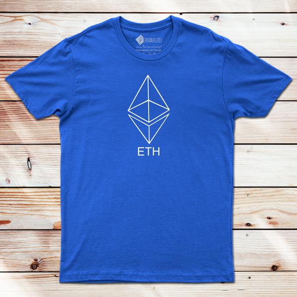 T-shirt Ethereum ETH azul
