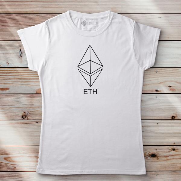 T-shirt Ethereum ETH camiseta feminina