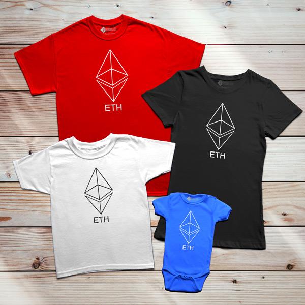 T-shirt Ethereum ETH família