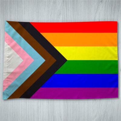 Bandeira LGBTQ+ Progresso orgulho gay 70x100cm comprar