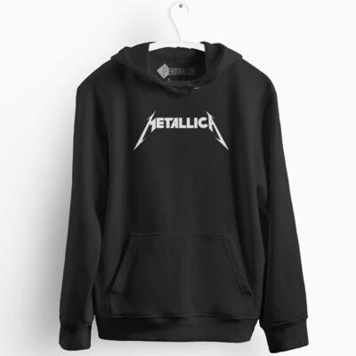 Banda Metallica Sweatshirt com capuz preto em Portugal