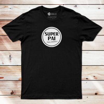 T-shirt Super Pai Super Bock Amor Autêntico preta