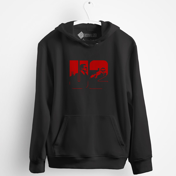 U2 Sweatshirt com capuz comprar roupa preta