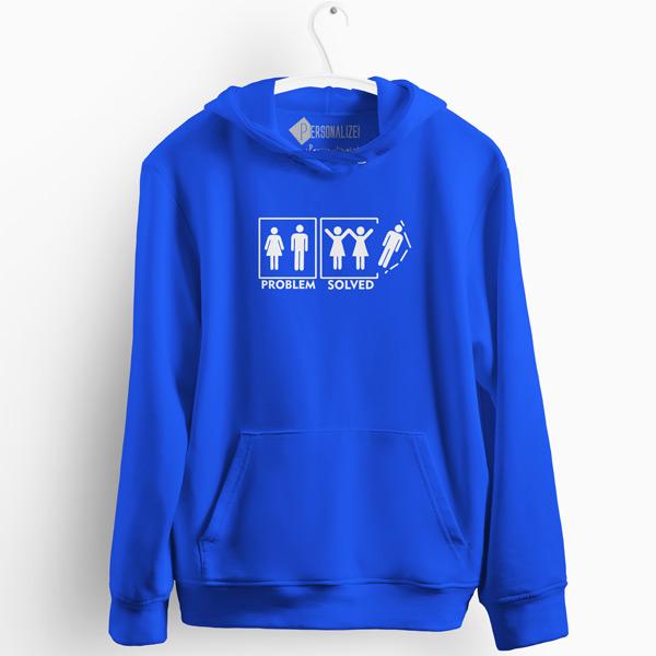 Lesbian Problem Solved Sweatshirt com capuz