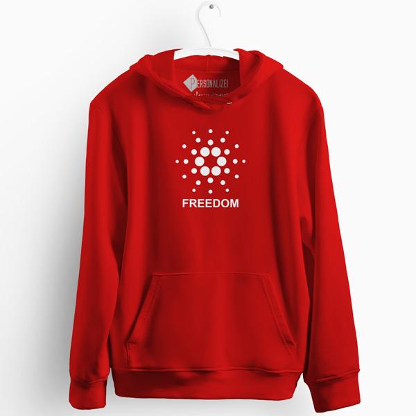 Sweatshirt com capuz Cardano Freedom vermelho comprar