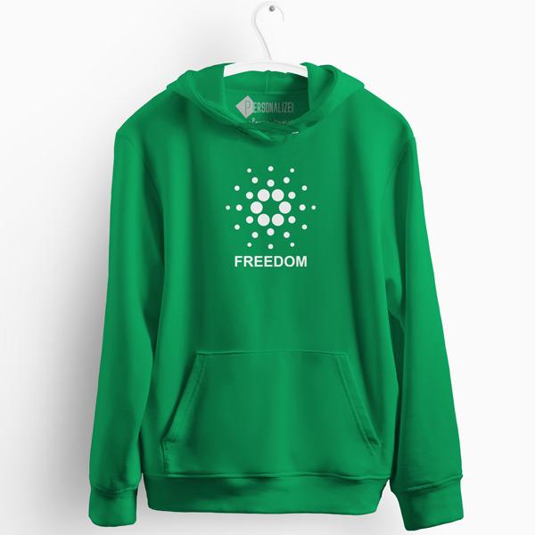 Sweatshirt com capuz Cardano Freedom verde