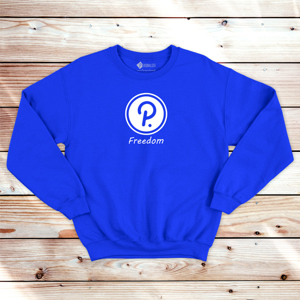Polkadot Freedom Sweatshirt unisex DOT azul