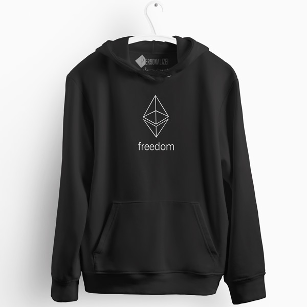 Sweatshirt com capuz Ethereum Freedom comprar