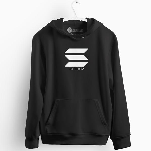 Sweatshirt com capuz Solana Freedom preto