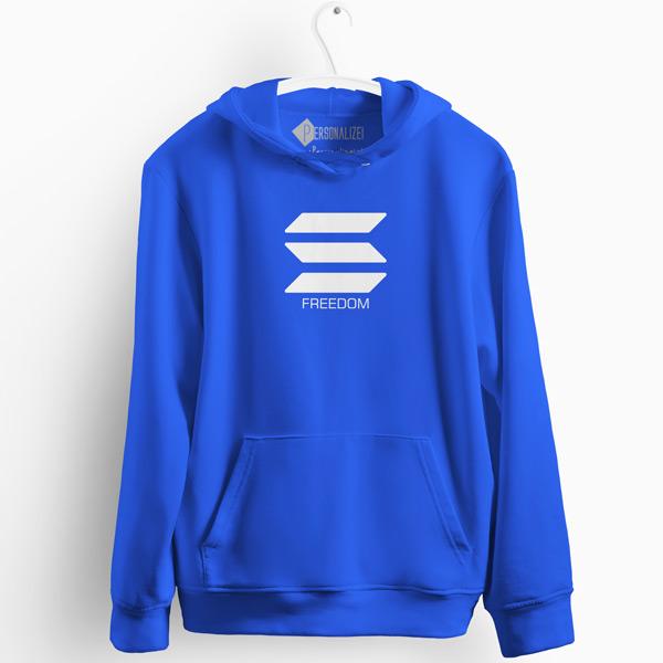 Sweatshirt com capuz Solana Freedom azul