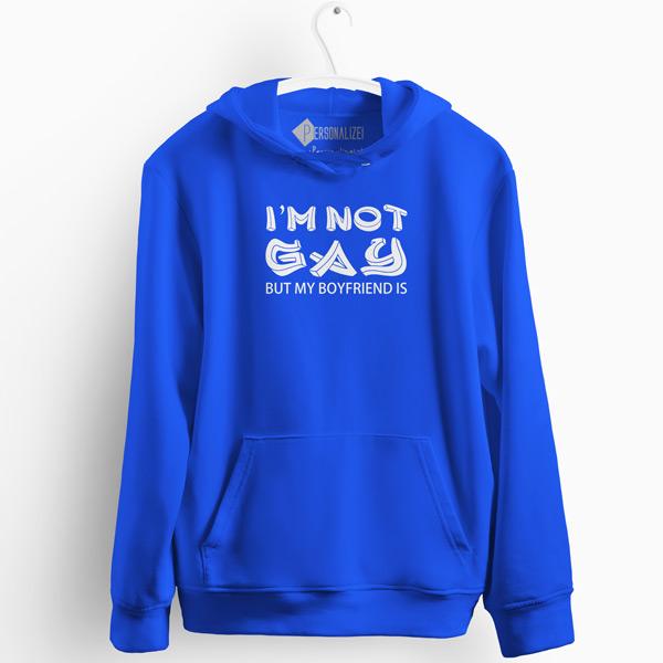 I'm not gay but my boyfriend is Sweatshirt com capuz comprar em Portugal